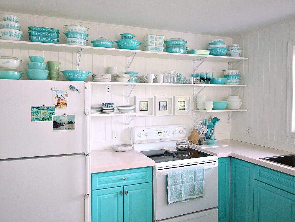 Diy Round Polka Dot Pot Holder With Heat Shield Aqua Kitchen Kitschy Kitchen Turquoise Kitchen
