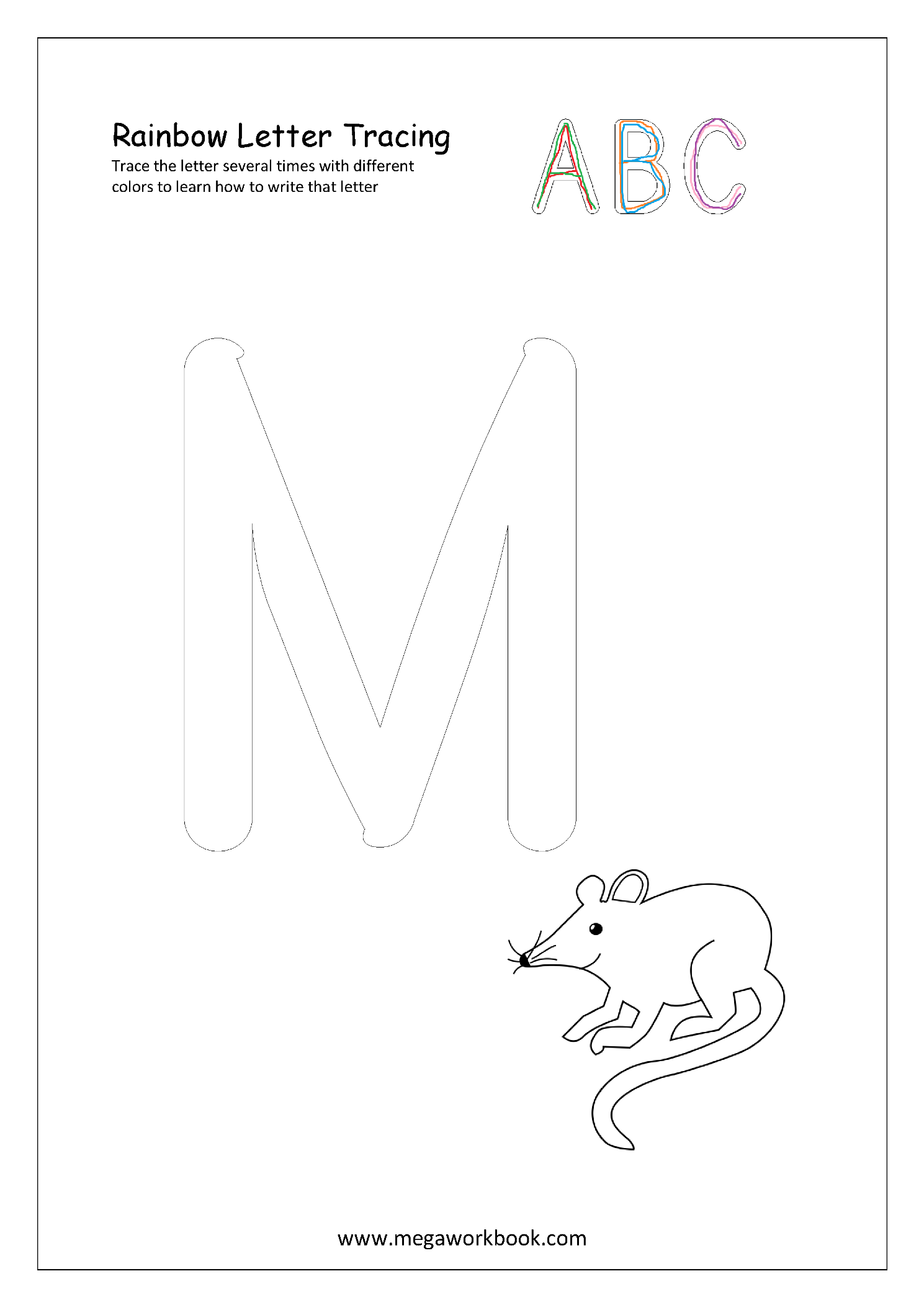 Rainbow Letter Tracing