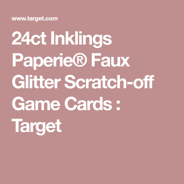 24ct Inklings Paperie® Faux Glitter Scratch-off Game Cards : Target