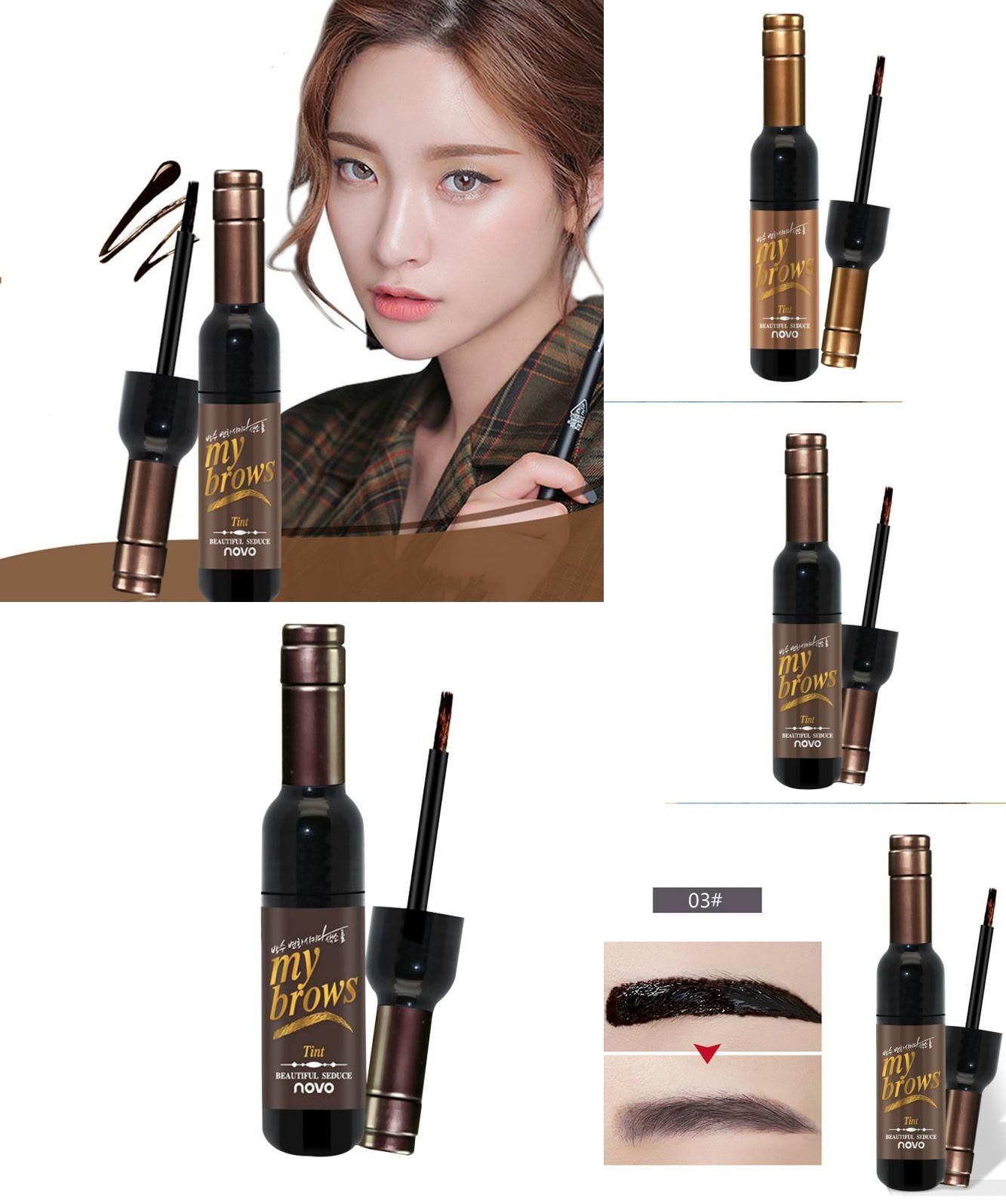[Visit to Buy] 2017 Hot Sale Peel Off Dye Eyebrow Long