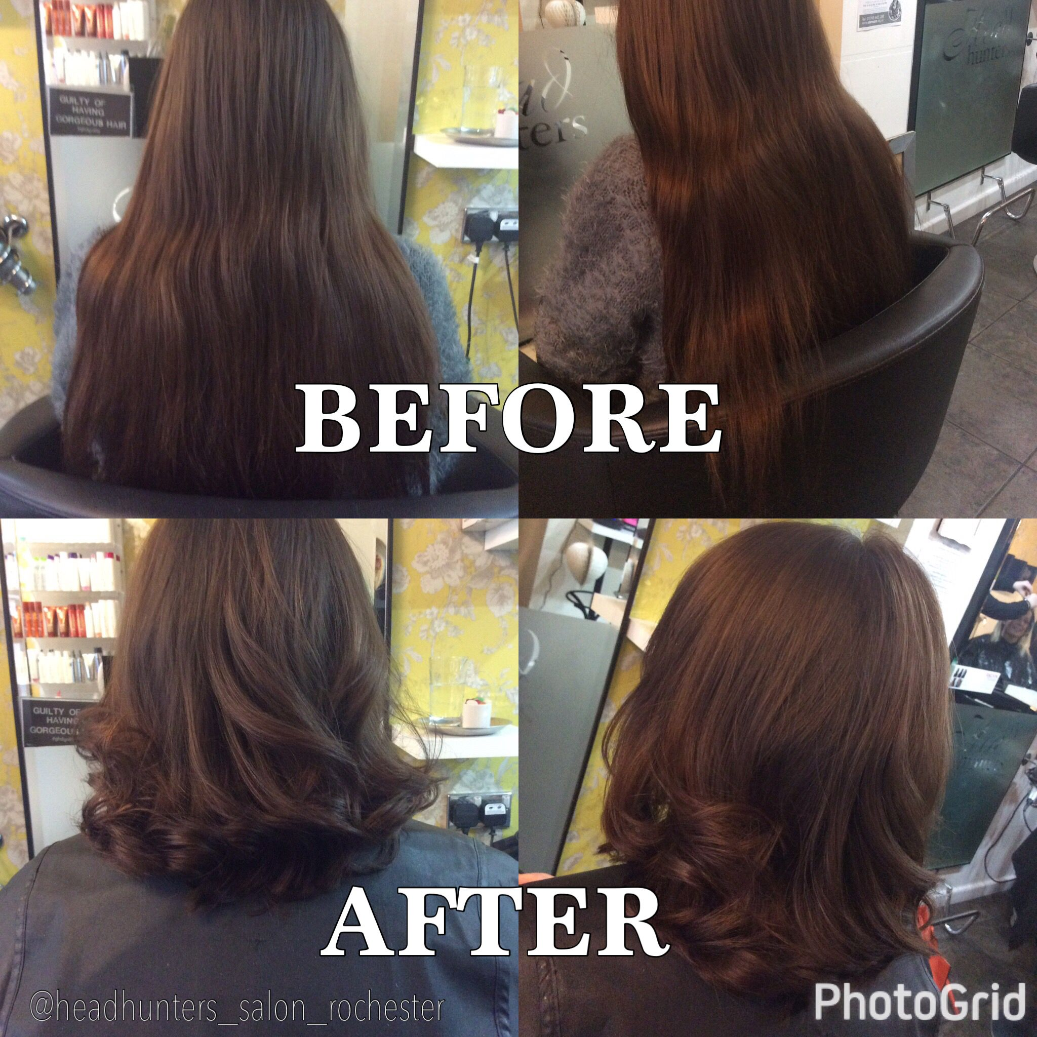 Restyle from long to short hair