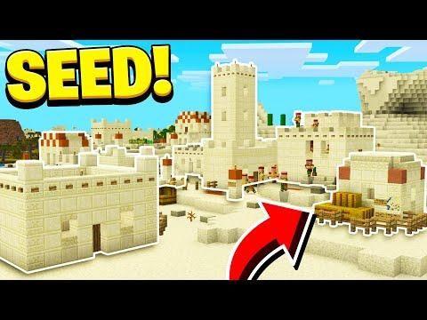 New Desert Village Seed In Minecraft Village Pillage Update