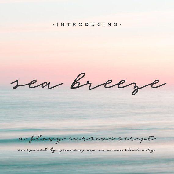 , Sea Breeze Cursive Font – Commercial Use Font – Whimsical Font – Feminine Font – Script Font – Signature Font, My Tattoo Blog 2020, My Tattoo Blog 2020