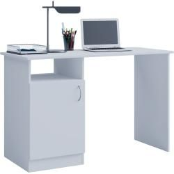 Photo of Computer table Desas – white – 115 cm roller