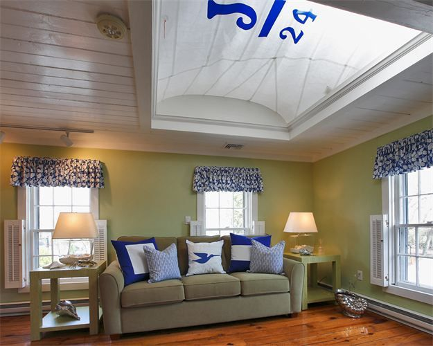 old sails used as decoration ceiling - Google Search | Home Sweet
