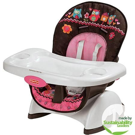 Fisher Price Pink Owl Spacesaver High Chair Colbi Grace