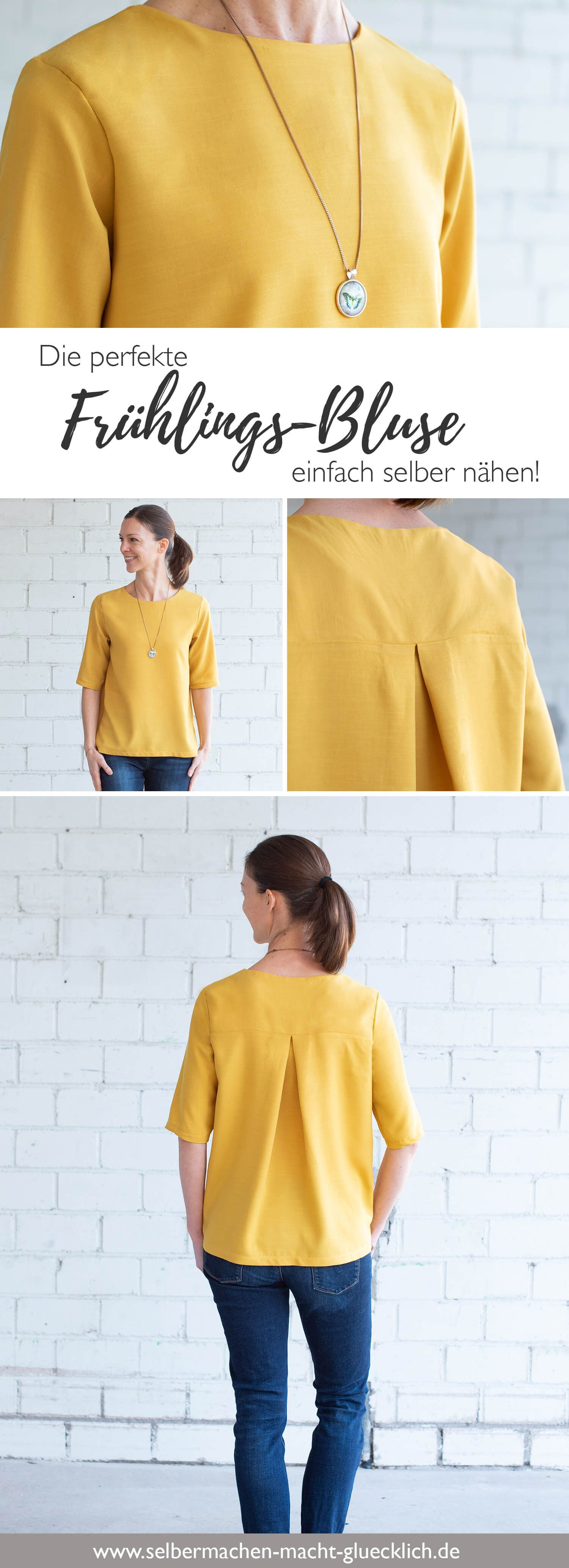 Damen Blusen Schnittmuster - Die perfekte Frühlings-Bluse selber nähen! #textilepatterns
