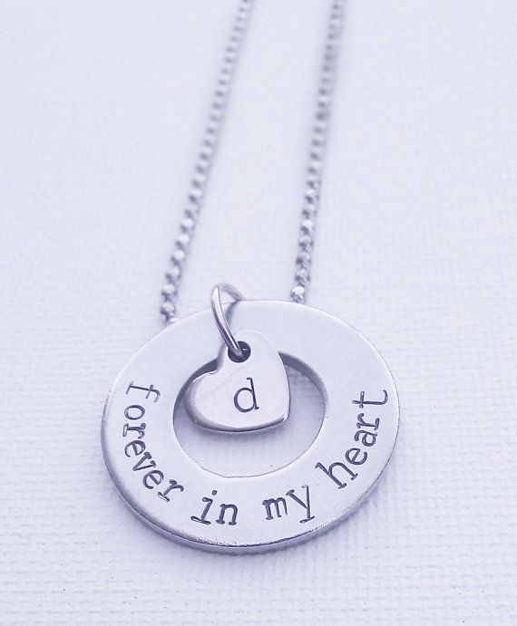 Forever In My Heart Necklace, Memory Necklace, Loss of A ...