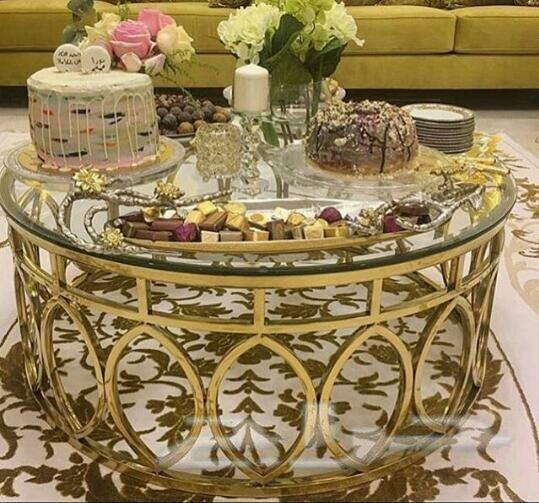 طاولات حديد فخمة وقص ليزر وتفصيل حسب الطلب Curtain Designs Table Decorations Decor
