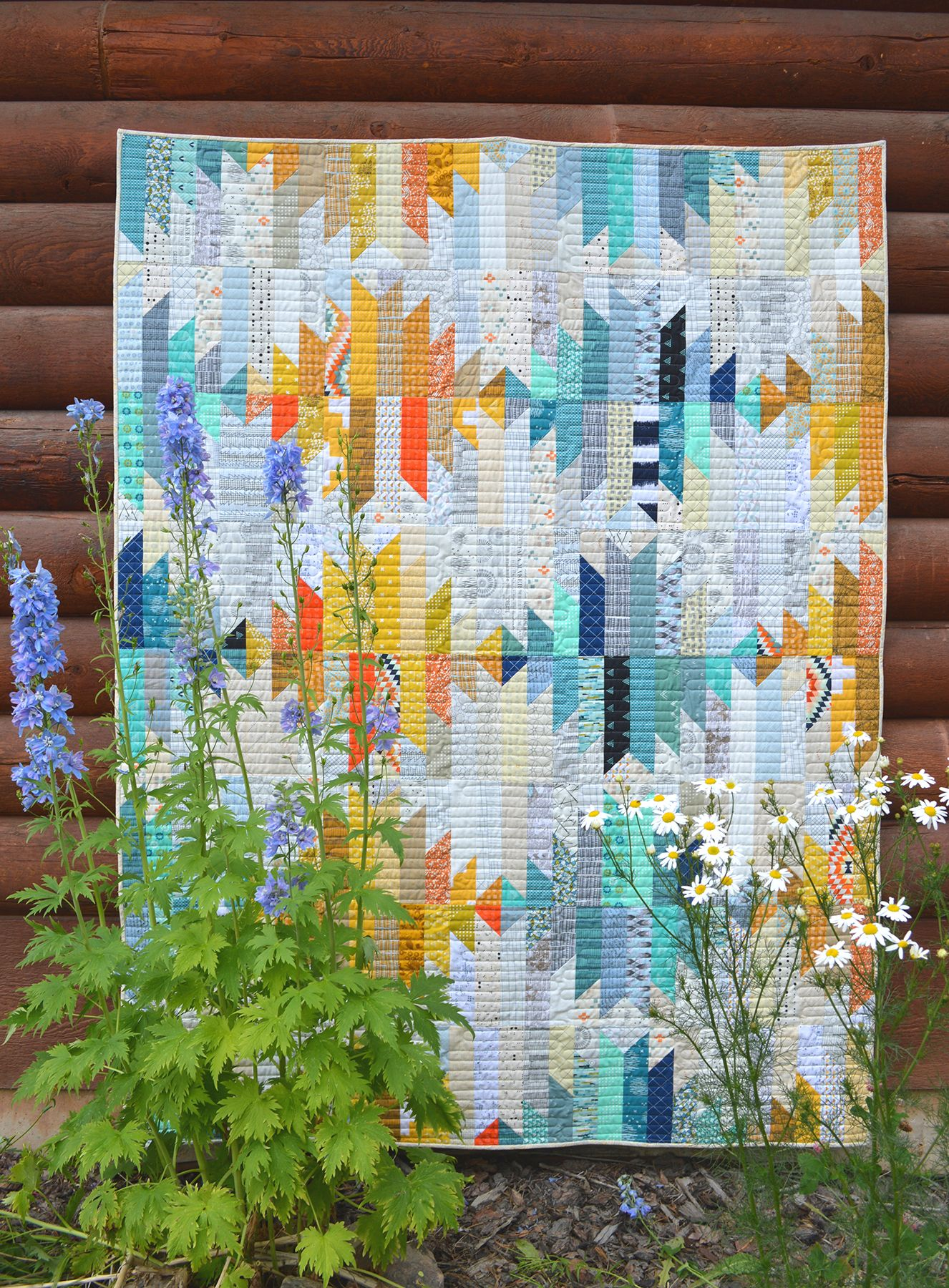 wavelength quilt by Sharon McConnell in American Patchwork and ... : american patchwork quilting magazine - Adamdwight.com