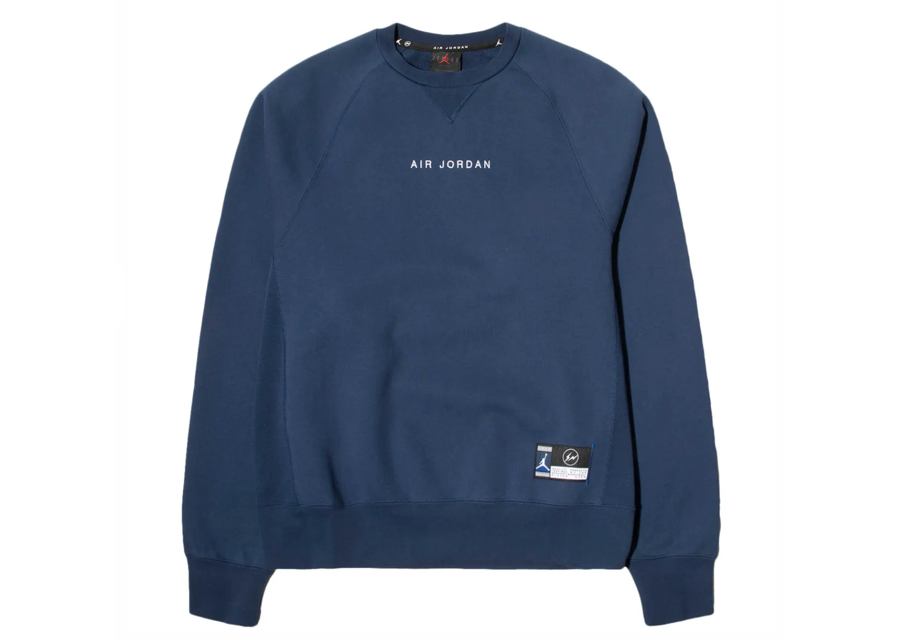 Jordan X Fragment Crewneck Sweatshirt Navy Sport Royal White Crew Neck Sweatshirt Sweatshirts Jordans [ 1248 x 1748 Pixel ]