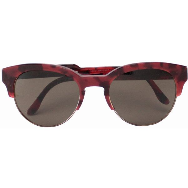 76d187c92f Stella McCartney Turtle shell pattern sunglasses (€245) found on Polyvore  featuring women s fashion