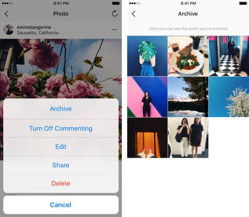 How To Get An Instagram Post Out Of Archive
