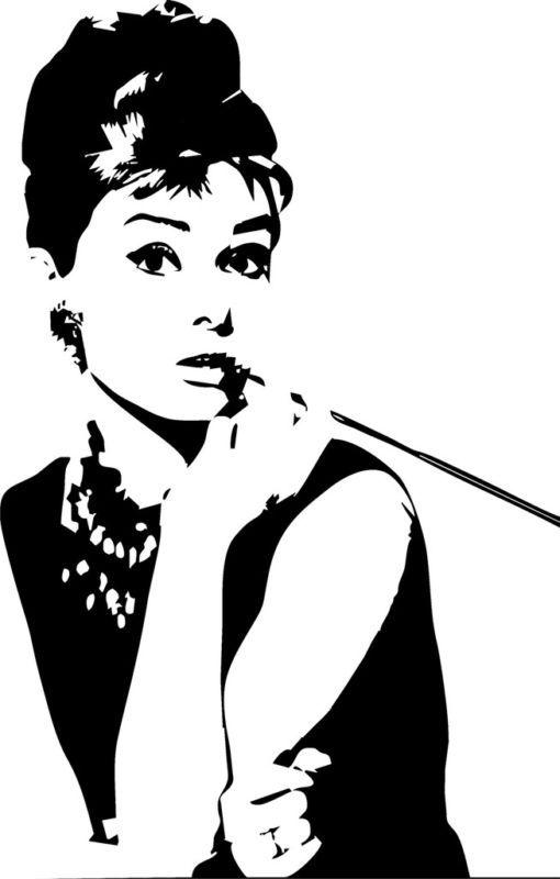 Audrey Hepburn Wall Sticker Silhoutte Redecorating Ideas