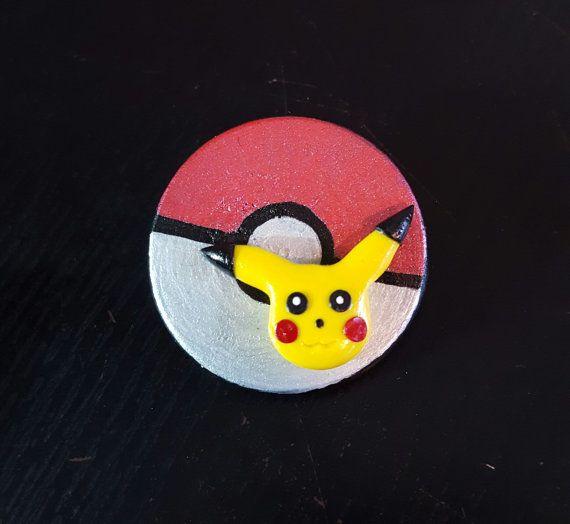 Polymer clay Pikachu pin pokemon pin pokemon Pikachu by NeckLaced