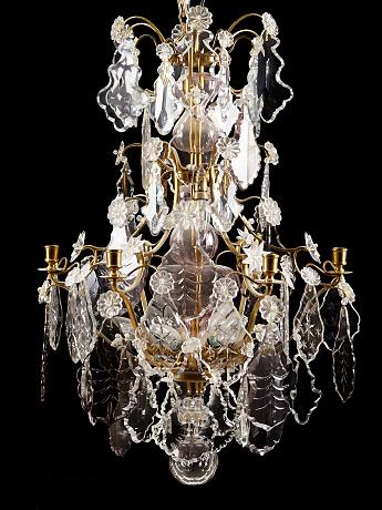 Auktion | Ljuskrona rokokostil | Stockholms Auktionsverk