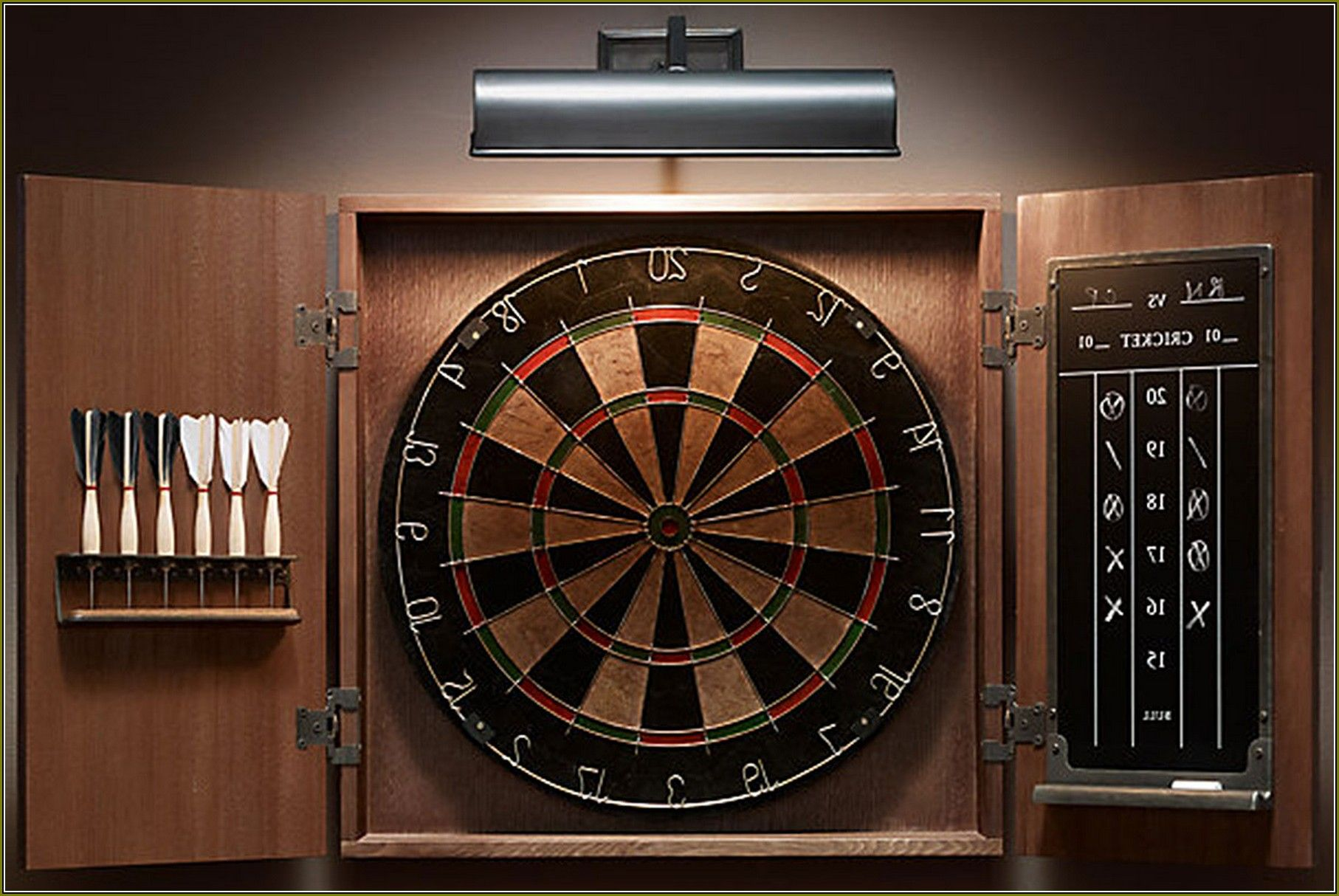 Dartboard Cabinet Set Up