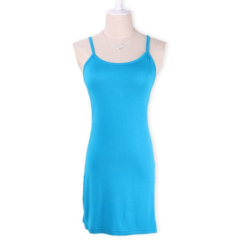 YEJIA FASHION Women Stretchy Camisole Spaghetti Strap Long Tank Top Mini Wrap Blouse Summer Casual Sexy Slip Vest Female Blusa