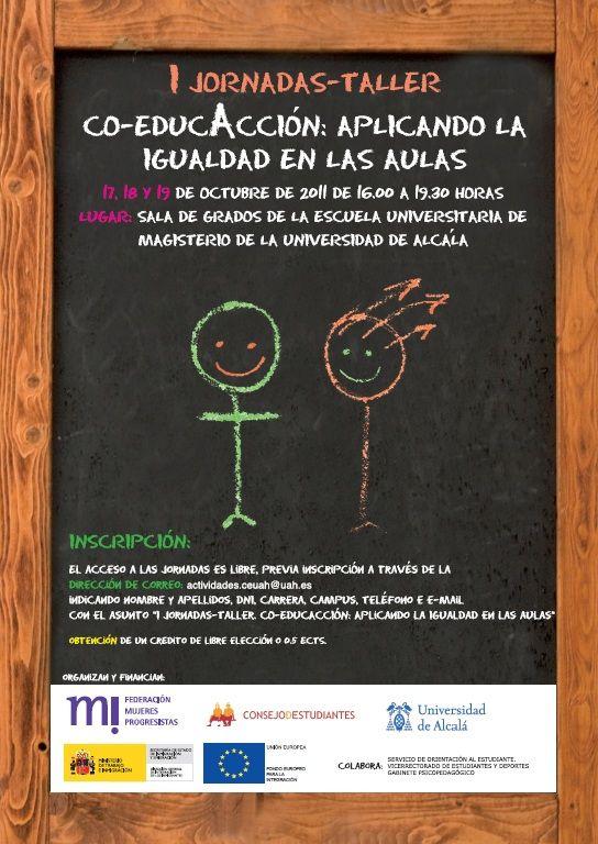 """Universidad de Alcalá: Xornadas-Taller """"Co-educación: aplicando la igualdad en las aulas"""""""