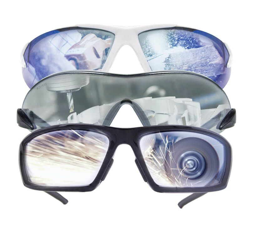 Industrial safety equipment eye protection lens
