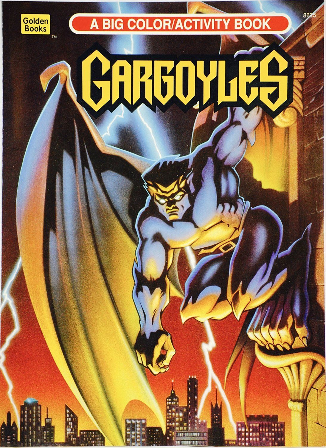 Goliath On A Cover Of Disneys Gargoyles Coloring Book