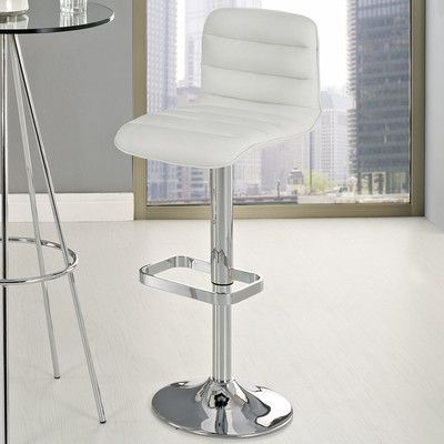 Modway Ripple Adjustable Height Swivel Bar Stool with Cushion Upholstery:
