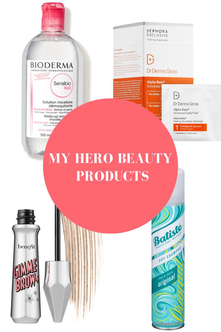 The LindsaySilb Master List My Hero Beauty Products