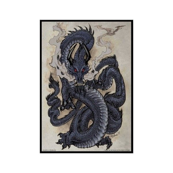 Eastern Dragon Poster 29 Cad Liked On Polyvore Featuring Home Decor