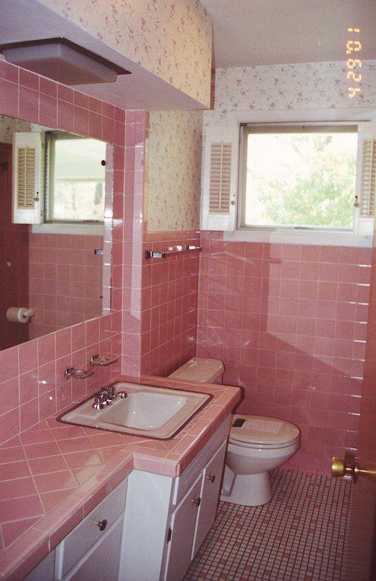 pink bathroom tiles retro bathrooms black bathroom