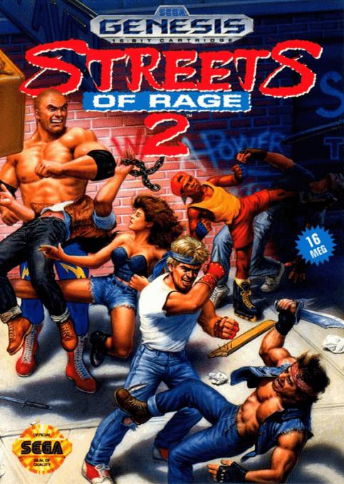 Streets Of Rage 2 Usa Sega Genesis Art Box Sega Games Classic