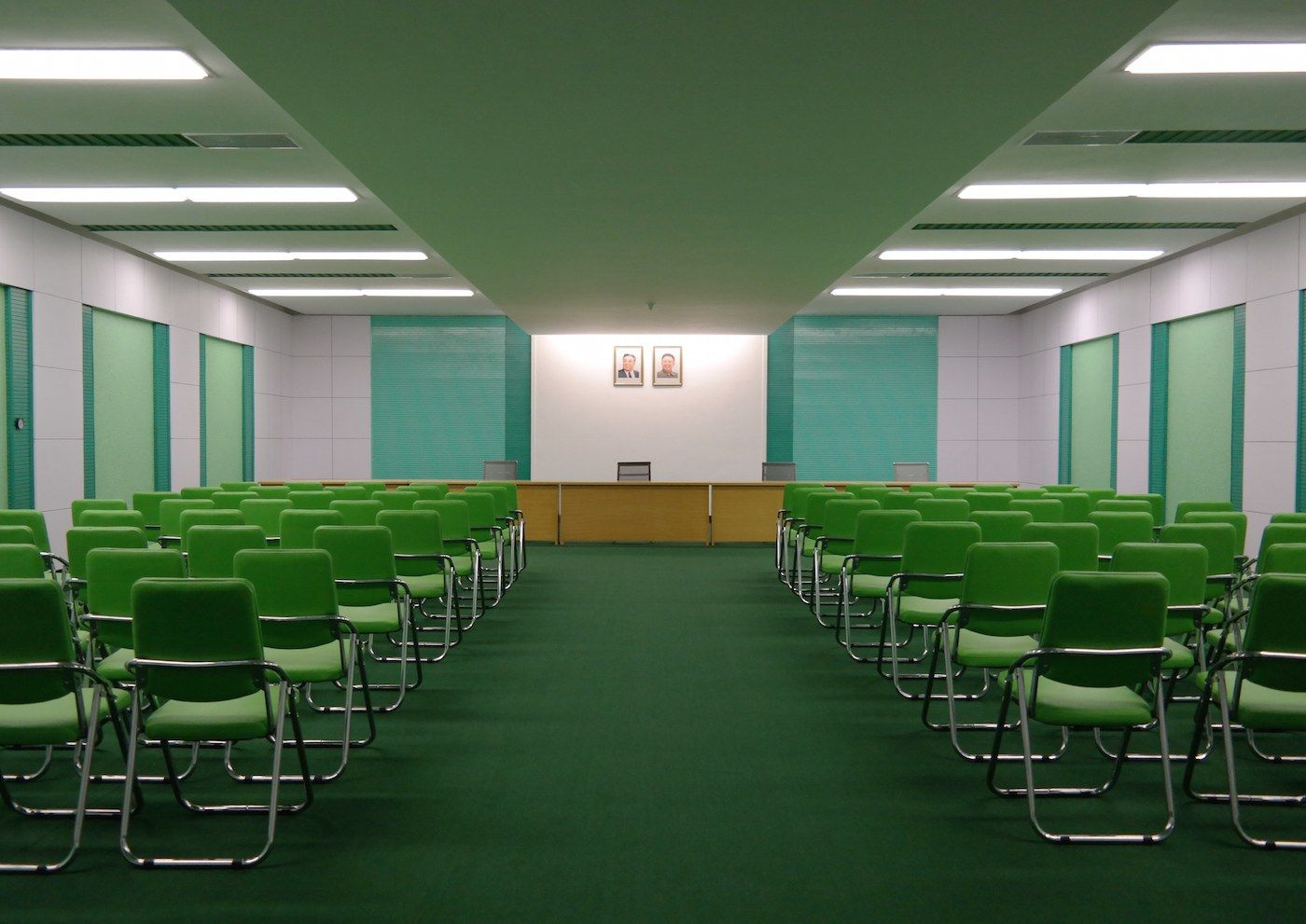 Oliver Wainwright photographed the mint, apricot and lavender that dominates Pyongyang's architecture.