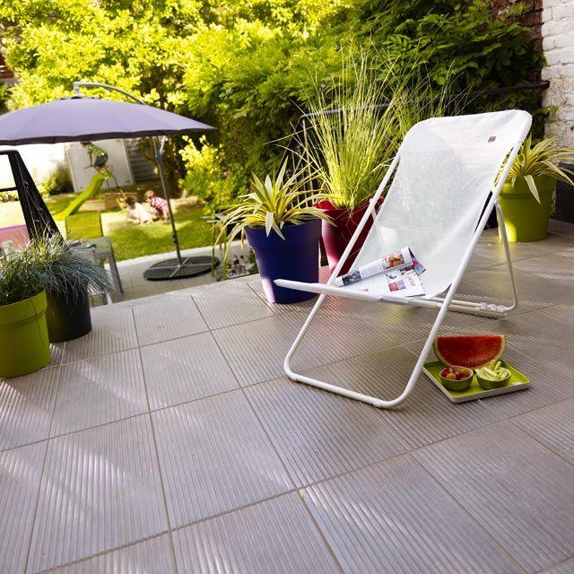 Castorama carrelage terrasse anthracite 31 x 61 80 cm loft for Carrelage exterieur terrasse castorama