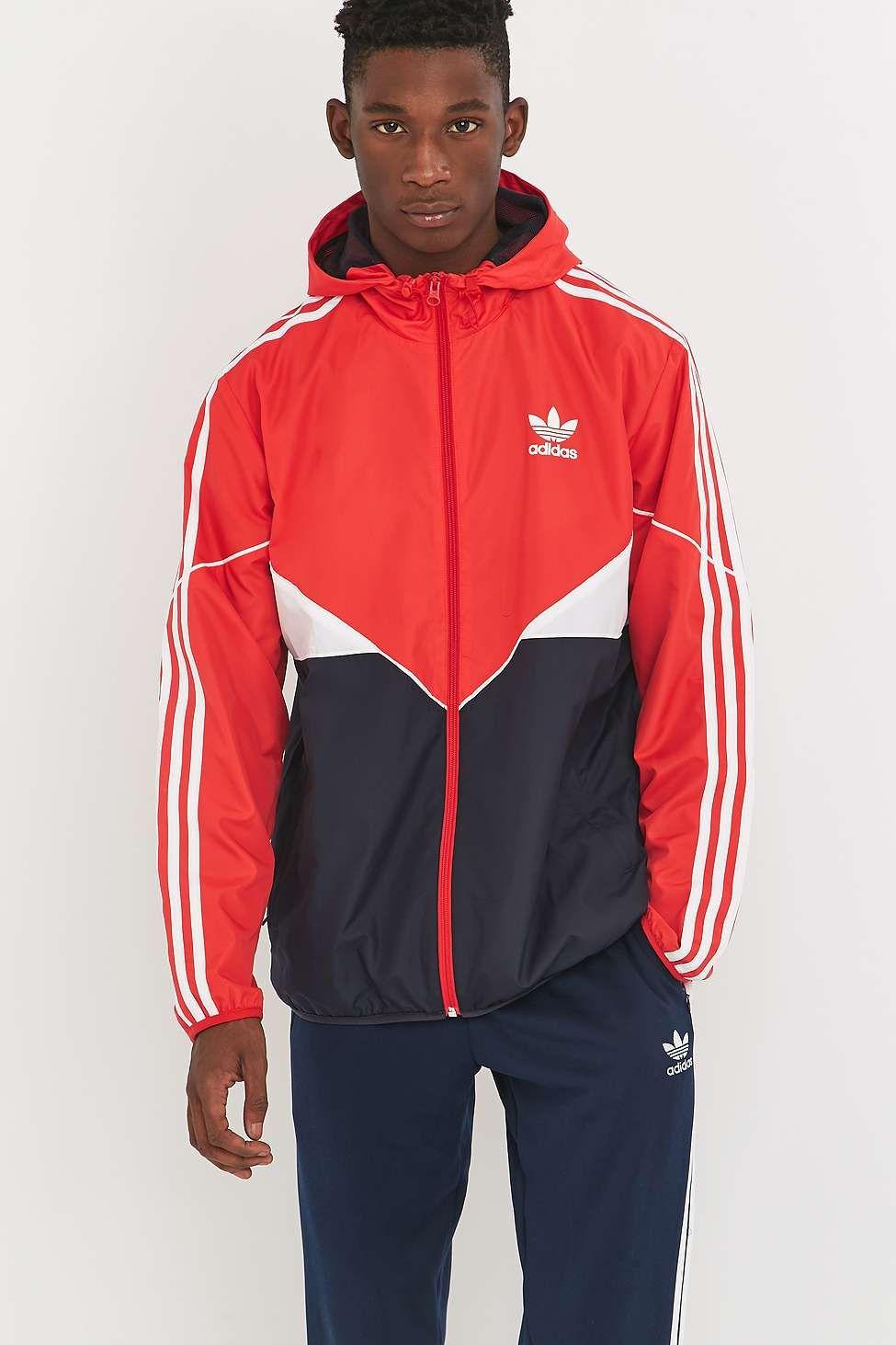 "adidas Originals – Windjacke ""CLRDO"" in knalligem Rot"