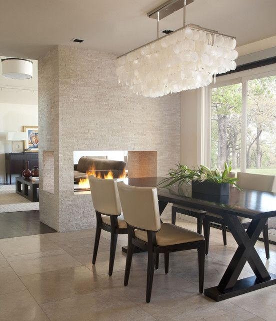 48 Attractive Dining Room FIreplace Ideas For Pleasant Ambience Interesting Chandeliers For Dining Room Contemporary Ideas