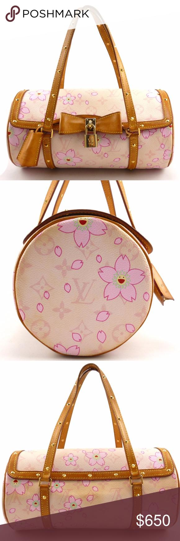7eb9d19b32a Louis Vuitton Auth Papillon Cherry Blossom Bag Authentic Louis Vuitton  Monogram Canvas Limited Edition Cherry Blossom
