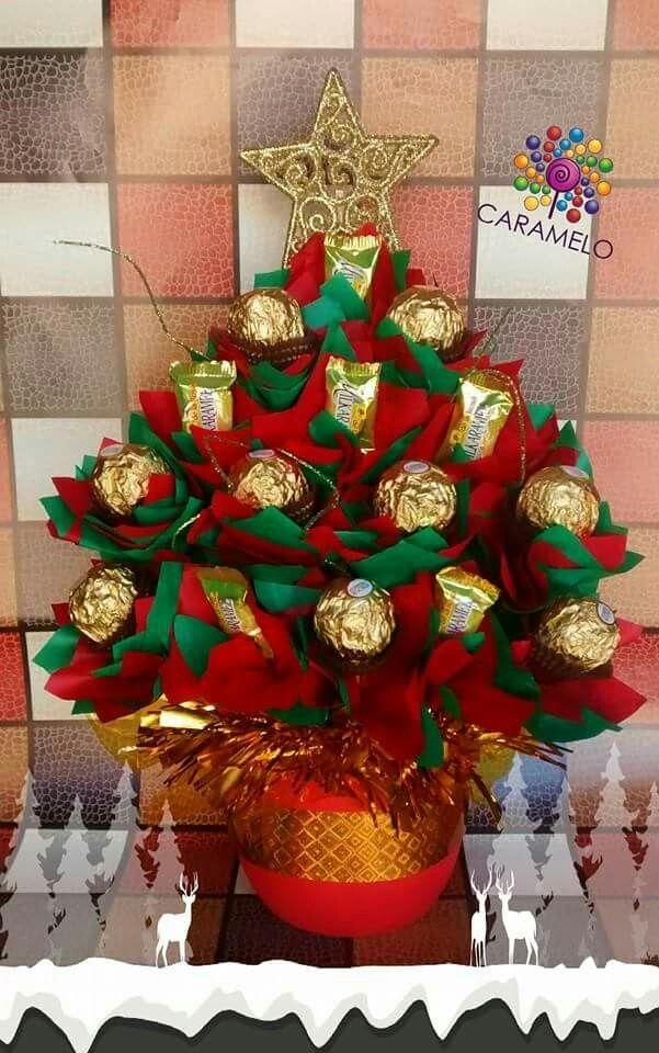 Christmas tree bouquet ferrero rocher | CHRISTMAS | Pinterest ...