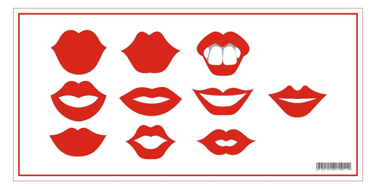Free Printable Lips Photo Booth Props Birthday Props Free
