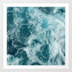 Art Print featuring Sea by Vickn