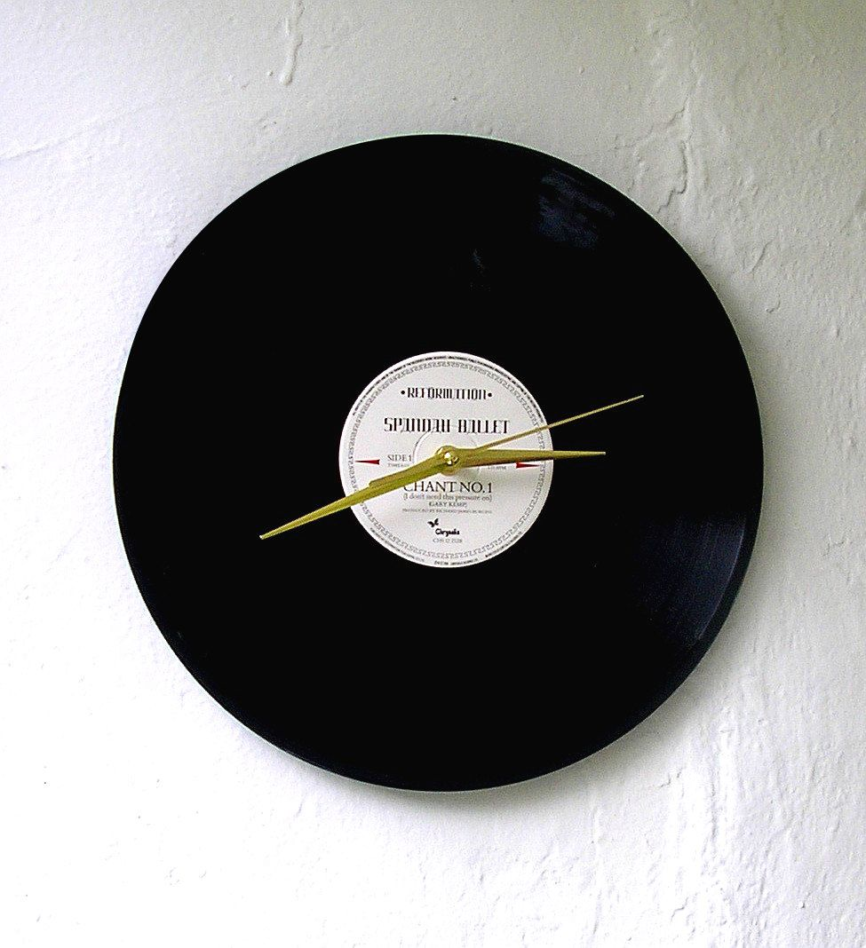 Handmade Vinyl Record Clock Spandau Ballet 12 Inch Single With Original Record Sleeve Presentation Box 1980s Musi Vinyl Record Clock Record Clock Vinyl Records