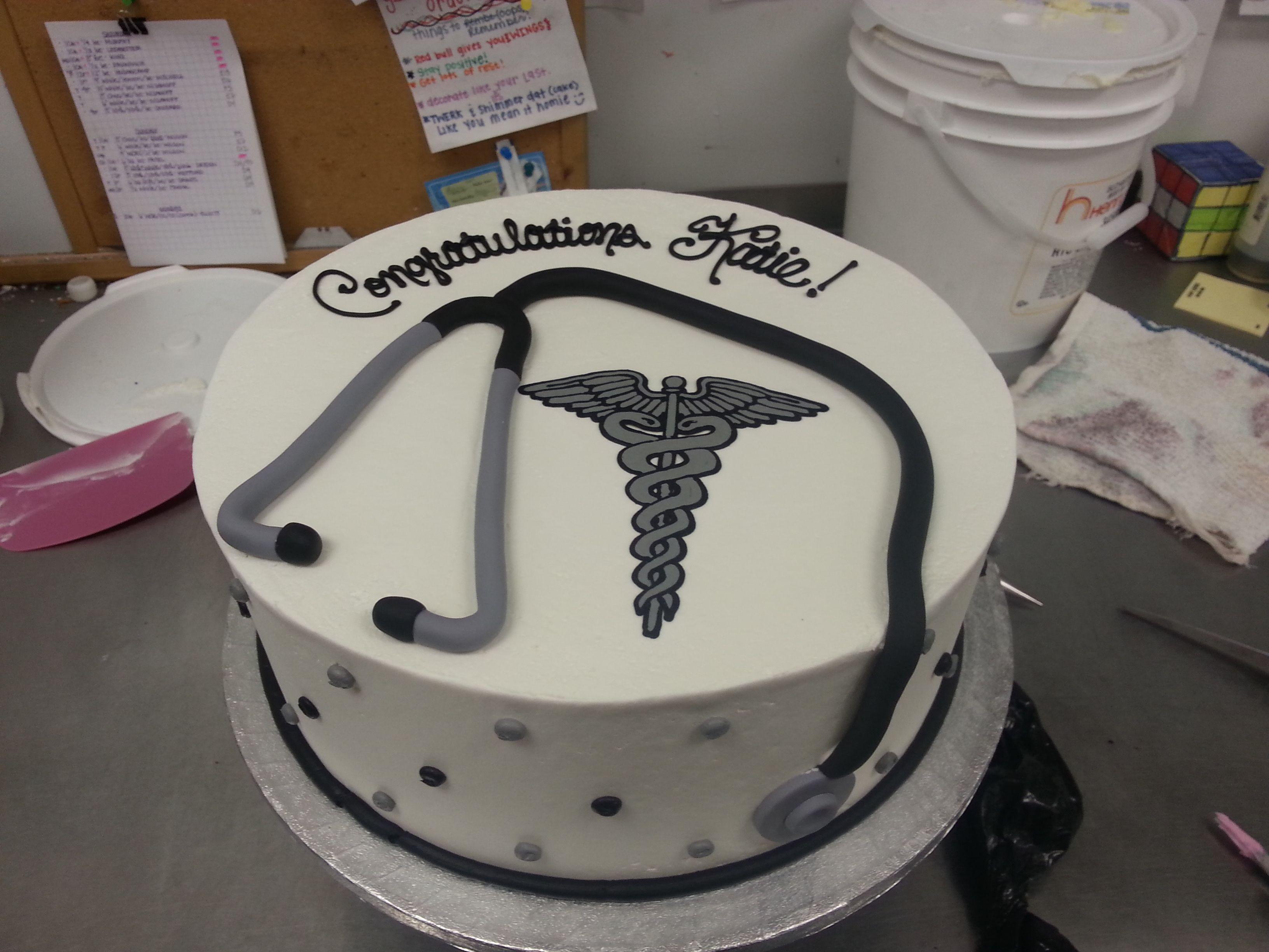 Caduceus And Fondant Stethoscope Cake Cakes I Ve Made Cake