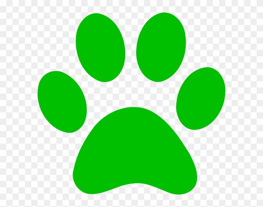 Green Paw Print Bobcat Clip Art At Clker Pluspng Green Dog Paw Print Transparent Png Is Best Quality And High Resolution W Dog Paw Print Paw Print Dog Paws
