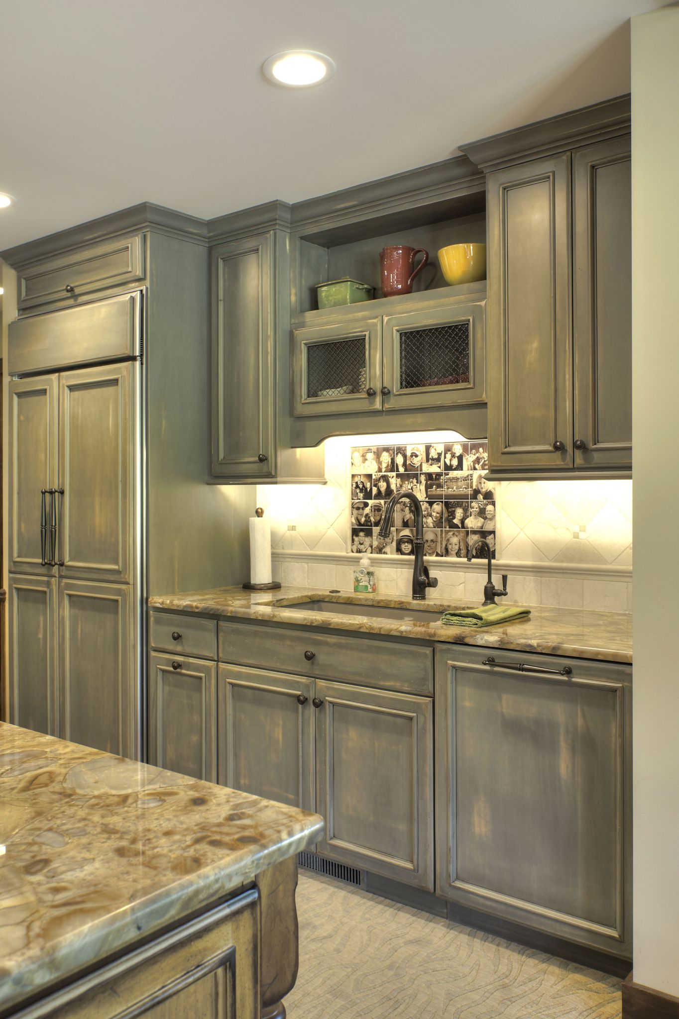 A kitchen remodel in Bellaire Michigan was redesigned from head to