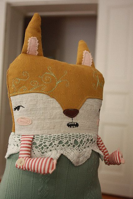 plush - I like the mixture of textiles & textures here. And the facial expression is priceless!