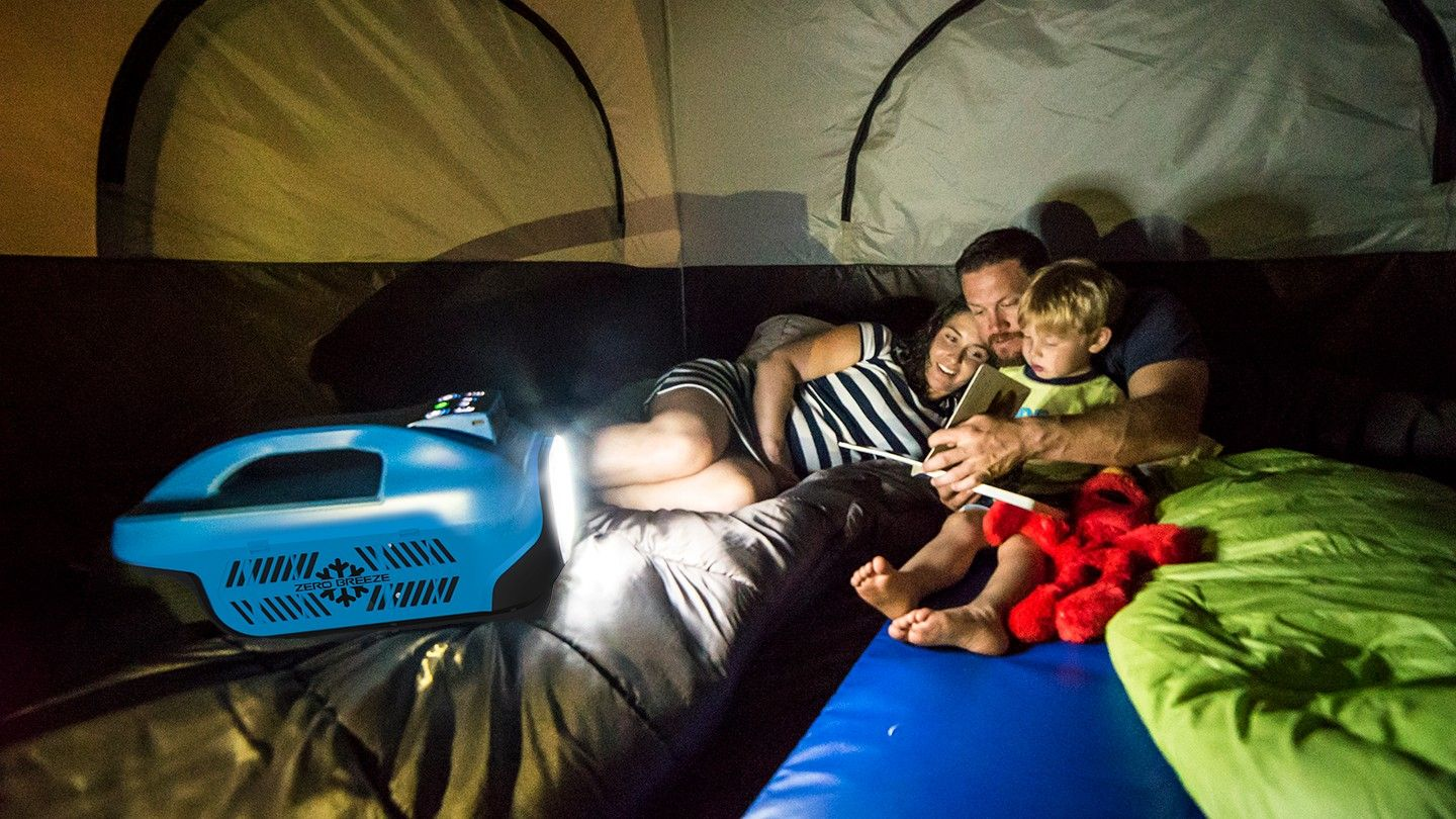 The Zero Breeze Portable Air Conditioner can be taken with