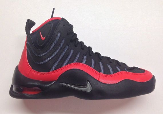 Nike Air Bakin  GS - Black - Cool Grey - University Red - Tim Hardaway 12f0fe82b