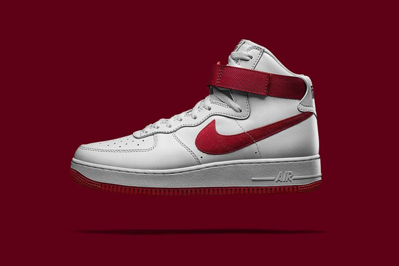 nike air force red and white high school