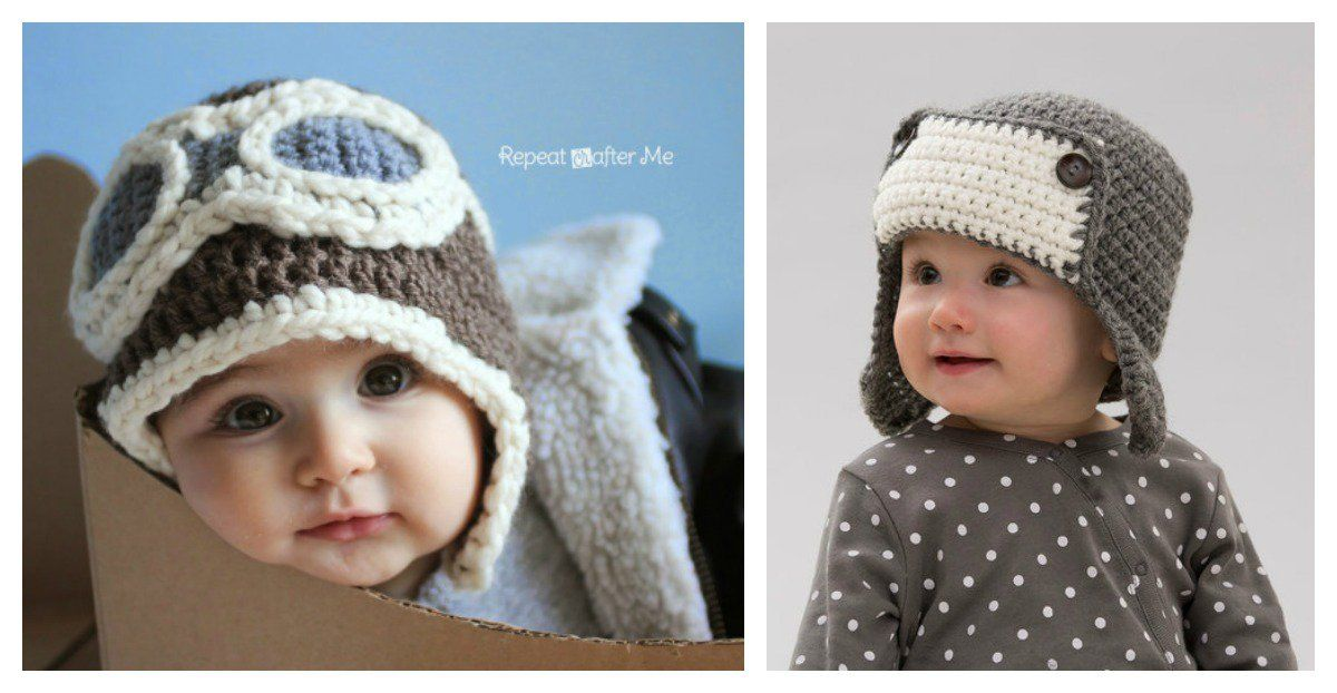 Crochet Aviator Hat with Free Pattern | Bebe