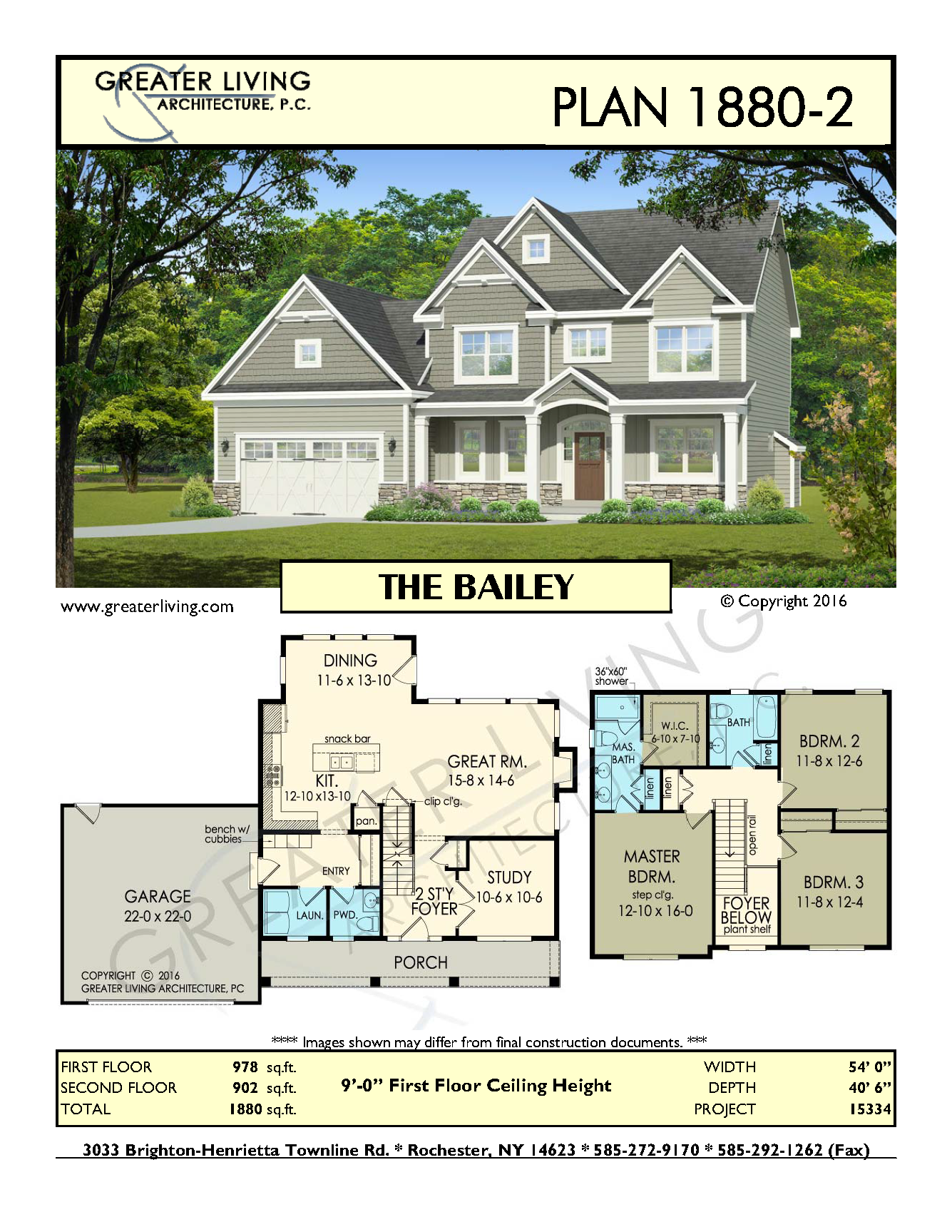 Plan 1880 2 the bailey house plans 2 story house plan for Two storey residential house floor plan