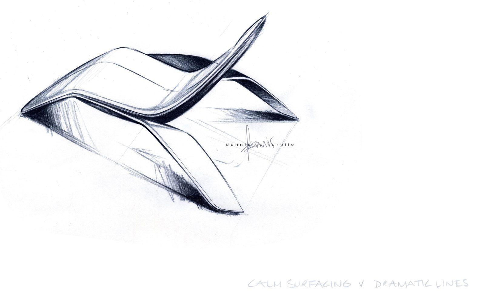 Industrial design sketches furniture - Ford Design Lounge Chair Design Sketch