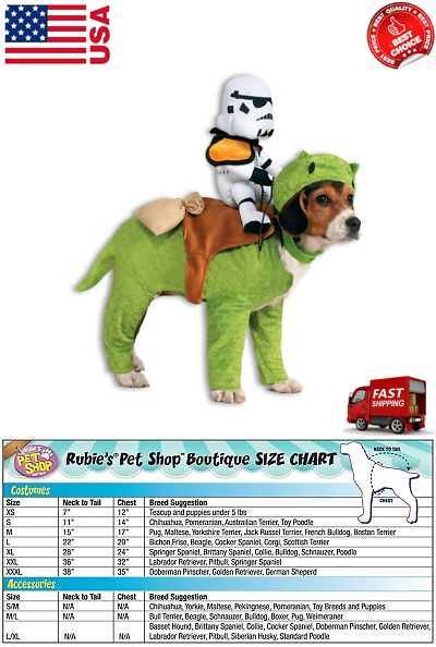 Costumes 52352 Dewback Stormtrooper Rider Star Wars Fancy Dress Halloween Pet Dog Costume -u003e  sc 1 st  Pinterest : dewback dog costume  - Germanpascual.Com